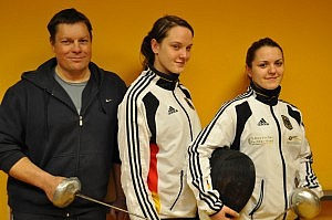 Jörg Ruppenthal, Alexandra und Olga Ehler vor der WM in Jordanien