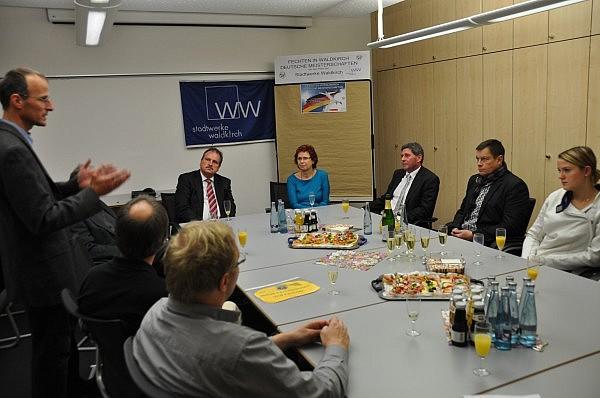 Fechtabteilungsleiter Andreas Haasis-Berner beim Pressegespräch vor den DM