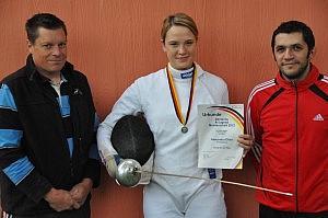Alexandra Ehler - Deutsche A-Jugend Vizemeisterin mit Verbandstrainer Ruppenthal und Vereinstrainer  Langenbacher