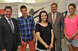 Empfang für zwei deutsche Vizemeister - zugleich Abschied