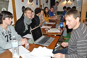 Obmannvorbereitungslehrgang beim SVW - Theorie im Olympiahaus
