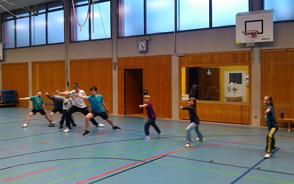 Training in der Anfängergruppe
