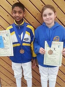 Pliezhausen Gold für Abiut Daluwaththage u. Bronze für Milena Fuchs