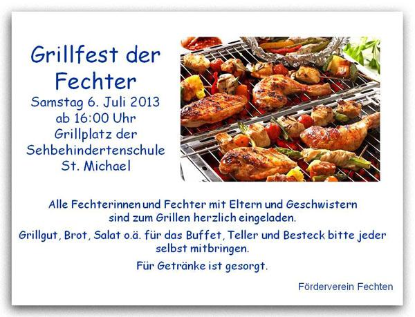Grillfest der Fechter 2013