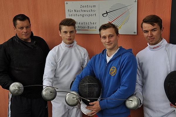 Qualifizierte A-Jugendfechter des SV Waldkirch für die DM 2014