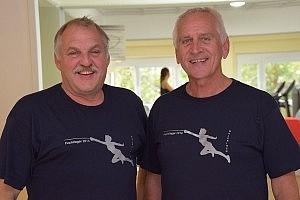 Vereinstrainer Manfred Beckmann aus Basel und Rolf Kalich