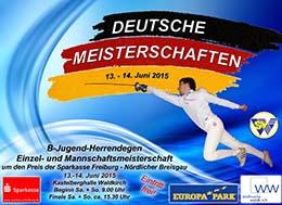 Plakat Deutsche Meisterschaften in Waldkirch 2015