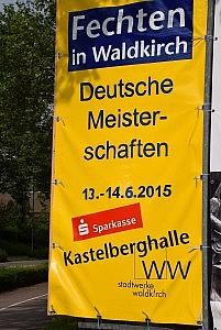 Deutsche Meisterschaften der B-Jugend im Herrendegen 2015 in Waldkirch