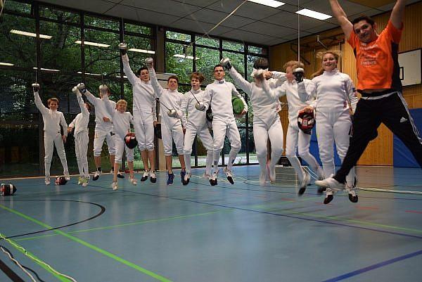 Fechter freuen sich, wieder im DFB Nachwuchszentrum zu sein